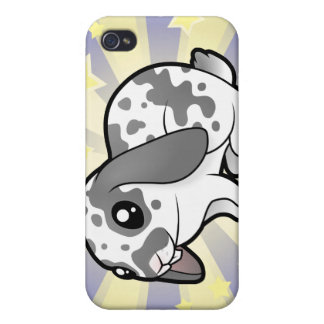 Little Star Rabbit (floppy ear smooth hair) Cover For iPhone 4