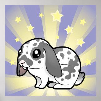 Little Star Rabbit (floppy ear smooth hair) Poster