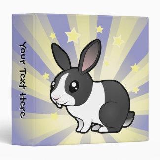Little Star Rabbit (uppy ear smooth hair) 3 Ring Binder