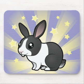 Little Star Rabbit (uppy ear smooth hair) Mouse Pad