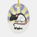 Little Star Rat (add your pets name) Christmas Ornament