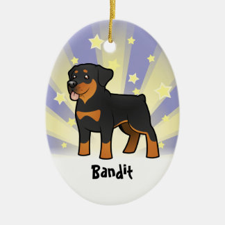 Little Star Rottweiler (add your pets name) Ceramic Ornament