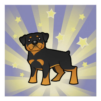 Little Star Rottweiler Poster