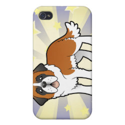 Case Savvy iPhone 4 Matte Finish Case with Saint Bernard Phone Cases design