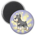 Little Star Schnauzer 2 Inch Round Magnet