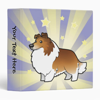 Little Star Shetland Sheepdog / Collie 3 Ring Binder