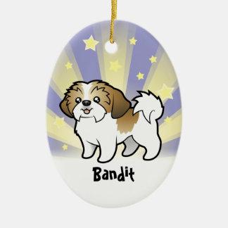 Little Star Shih Tzu (puppy cut) (add pets name) Ceramic Ornament