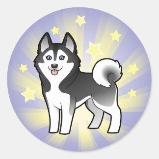 Little Star Siberian Husky / Alaskan Malamute Classic Round Sticker