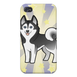 Little Star Siberian Husky / Alaskan Malamute Cover For iPhone 4