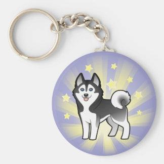 Little Star Siberian Husky / Alaskan Malamute Key Chains