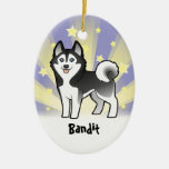 Little Star Siberian Husky / Alaskan Malamute Christmas Ornaments