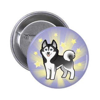 Little Star Siberian Husky / Alaskan Malamute Pinback Button