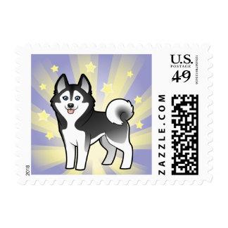 Little Star Siberian Husky / Alaskan Malamute Stamps