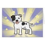 Little Star Staffordshire Bull Terrier Greeting Card
