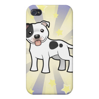 Little Star Staffordshire Bull Terrier Cases For iPhone 4
