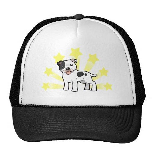 Little Star Staffordshire Bull Terrier Trucker Hats