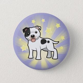 Little Star Staffordshire Bull Terrier Pinback Button