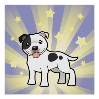 Little Star Staffordshire Bull Terrier Poster