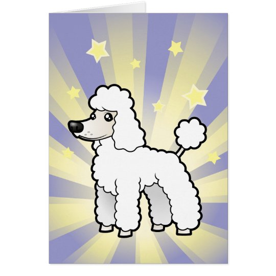 Little Star Standard/Miniature/Toy Poodle pup cut Card