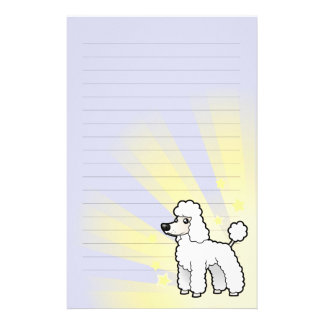 Little Star Standard/Miniature/Toy Poodle pup cut Stationery