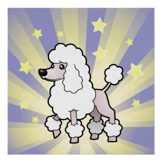 Little Star Standard/Miniature/Toy Poodle show cut Poster
