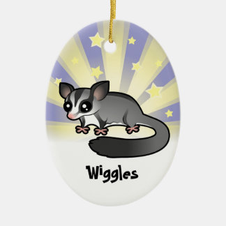 Little Star Sugar Glider (add your pets name) Ceramic Ornament