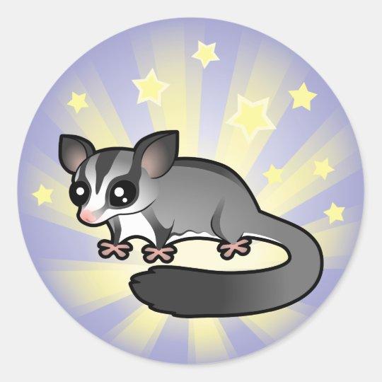 Little Star Sugar Glider Classic Round Sticker
