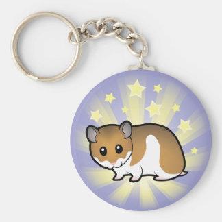 Little Star Syrian Hamster Basic Round Button Keychain