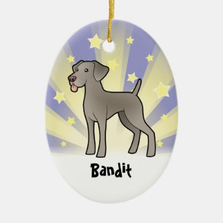 Little Star Weimaraner (add your pets name) Ceramic Ornament