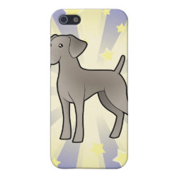 Case Savvy iPhone 5 Matte Finish Case with Weimaraner Phone Cases design