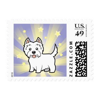 Little Star West Highland White Terrier Postage