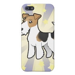 Case Savvy iPhone 5 Matte Finish Case with Wire Fox Terrier Phone Cases design