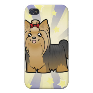 Little Star Yorkshire Terrier (long hair & bow) Cases For iPhone 4
