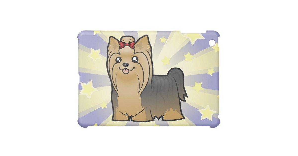 Little Star Yorkshire Terrier Long Hair Bow Ipad Mini Cover Zazzle Com
