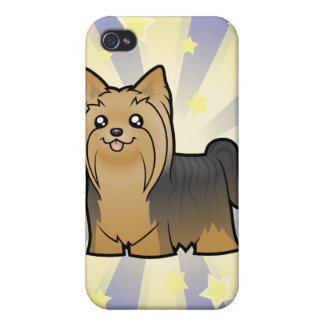 Little Star Yorkshire Terrier (long hair no bow) iPhone 4 Covers