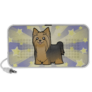 Little Star Yorkshire Terrier (long hair no bow) Mini Speakers