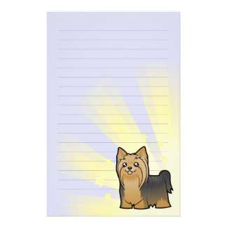 Little Star Yorkshire Terrier (long hair no bow) Stationery