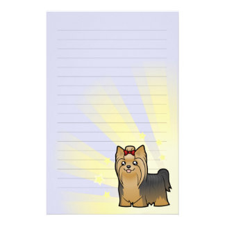Little Star Yorkshire Terrier (long hair with bow) Stationery