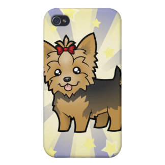 Little Star Yorkshire Terrier (short hair & bow) iPhone 4/4S Cover