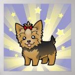 Little Star Yorkshire Terrier (short hair & bow) Poster