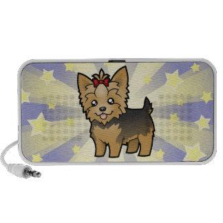 Little Star Yorkshire Terrier (short hair & bow) Notebook Speakers