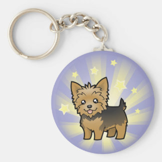 Little Star Yorkshire Terrier (short hair no bow) Keychain