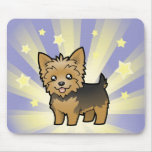 Little Star Yorkshire Terrier (short hair no bow) Mouse Pad
