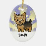 Little Star Yorkshire Terrier (short hair no bow) Christmas Ornament