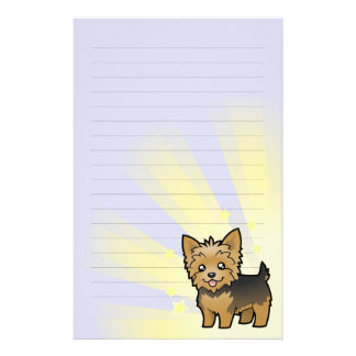 Little Star Yorkshire Terrier (short hair no bow) Stationery