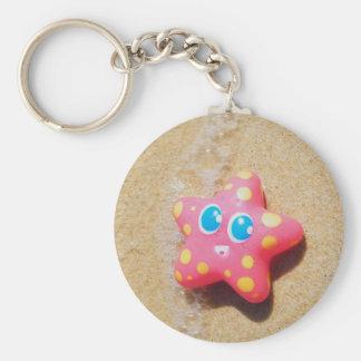 Little Starfish Basic Round Button Keychain