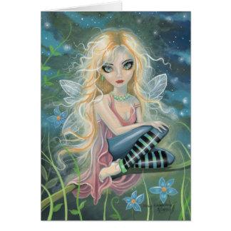 Little Starlight Fairy Fantasy Art Greeting Card