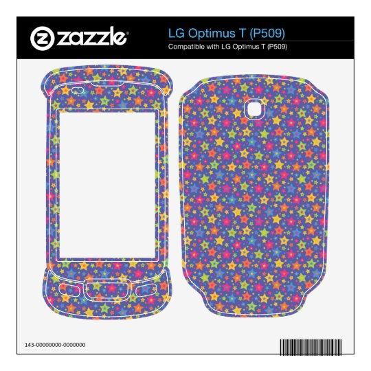 Little stars -Disco colors- Decal For LG Optimus T