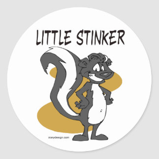 Little Stinker Classic Round Sticker