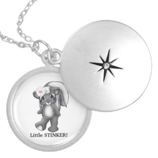 Little Stinker silver plated locket